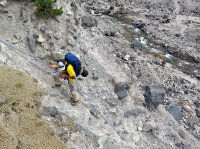 Repelling down to East Fork Toutle River